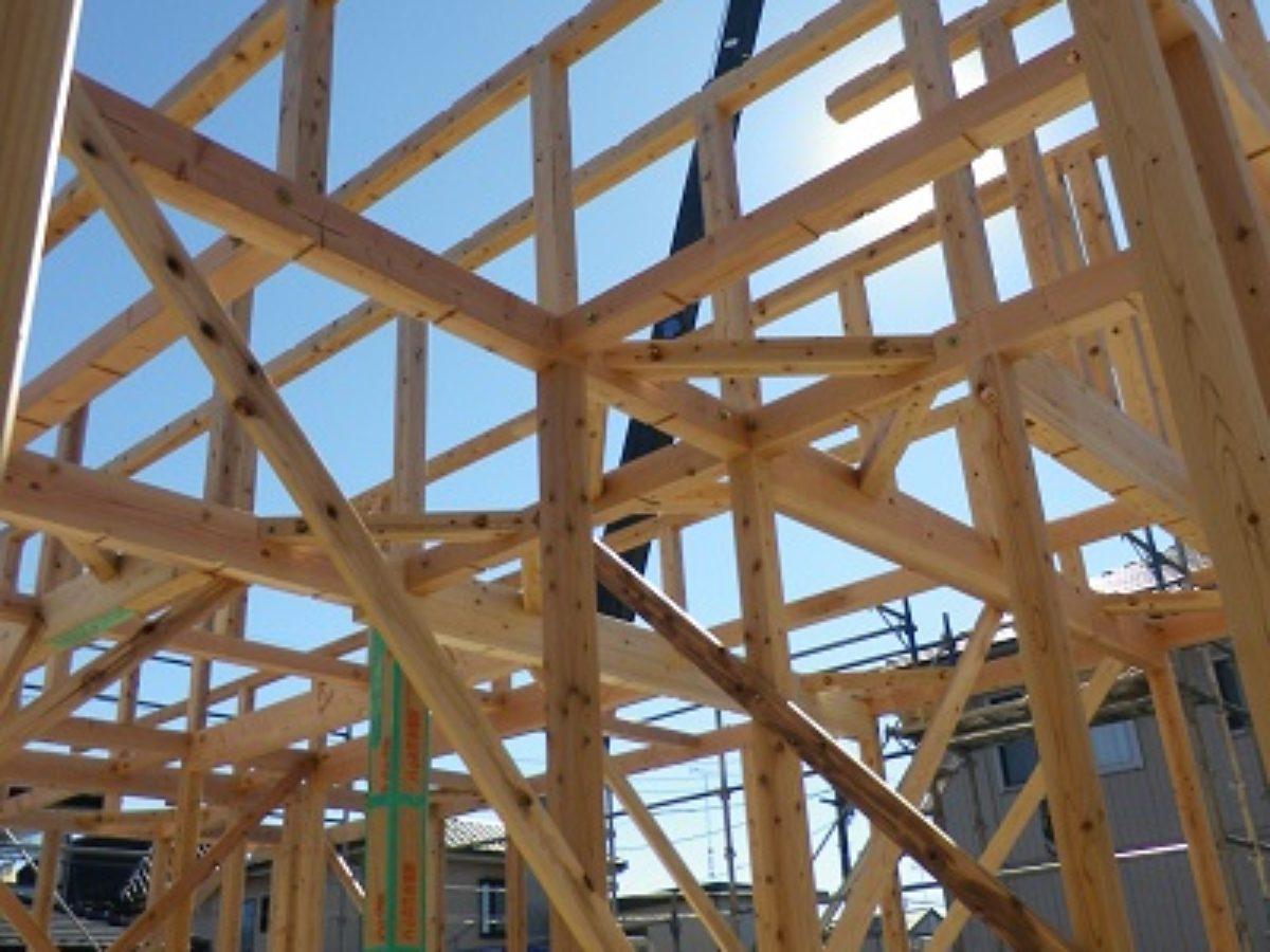 宇都宮市新築現場にて 建方がありました